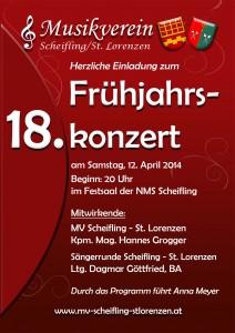 Frühjahrskonzert 2014 MV Scheifling
